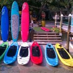 We offer many selections of kayaks, single and doubles.