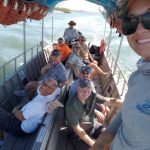 Group selfie time on our fishing boat