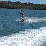 Skiing in the intracostal water ways off Daytona Beach