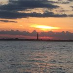 beautiful Atlantic sunset overlooking the ponce de leon lighthouse as a backdrop