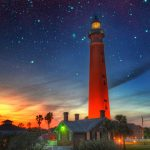 lighthouse sunset pic