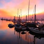 marina sunset pic