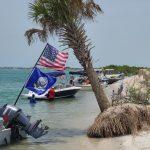 Boats on shell island
