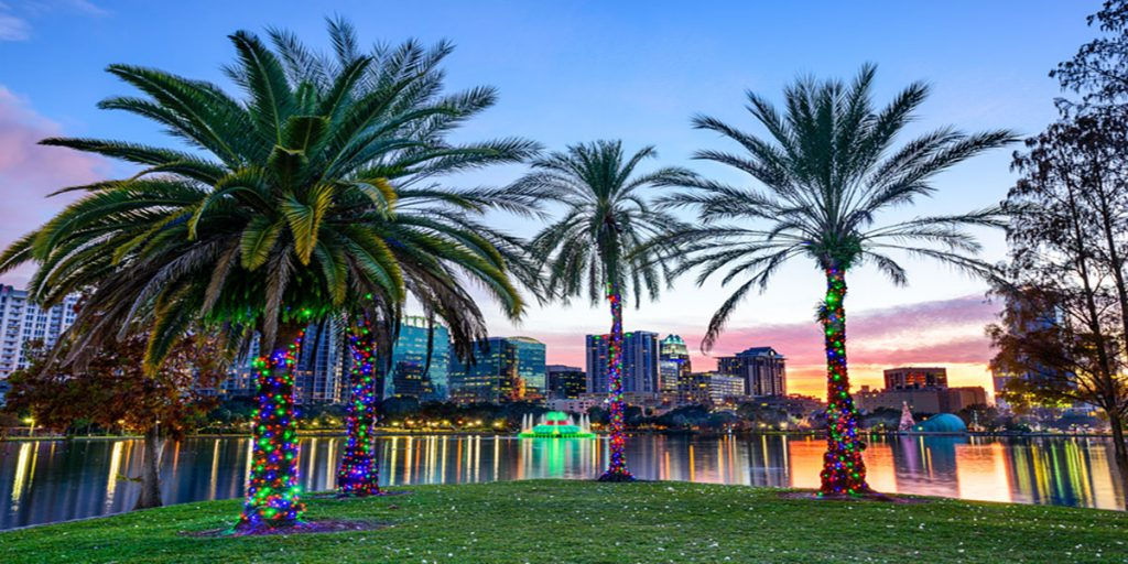 Orlando, Florida Cityscape for things to do in Orlando for free